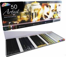 50 Artists Sketching Pencils Watercolours Charcoal Metalic Mothers Day Gift