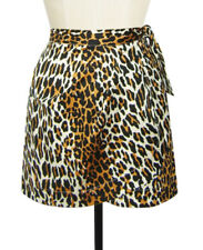 ED2015 Trashy Diva Wrap Sarong Skirt Leopard Stretch Cotton Size 4