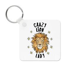 Crazy Lion Lady Stars Keyring Key Chain - Funny Animal