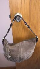 Coach Brown Suede Medium Soho Slouch Hobo (8A16) shoulder bag spare parts purse