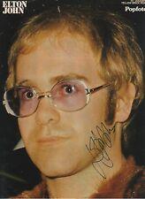 Elton John signed 8x11 inch magazine-picture autograph