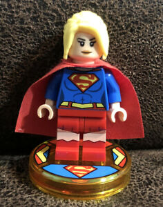Lego Dimensions Exclusive DC Supergirl Minifigure & Disc From Polybag GUC