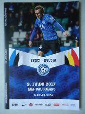 Programa ls 9.6.2017 Estonia Estonia-bélgica Belgium