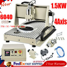 Usb 4 Axis Cnc 6040 Router Engraver Milling Drill Machine Woodworking 3d Cutter