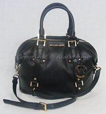 NWT Michael Kors Bedford Belted Medium Leather Satchel/Shoulder Bag in  Black