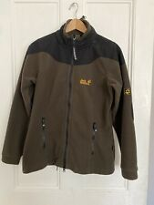 JACK WOLFSKIN Women's Brown Fleece Full Zip Concealed Hood Jacket Medium UK12
