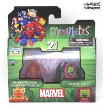 Marvel Minimates TRU Toys R Us Wave 15 Nova Flame Human Torch & Annihilus