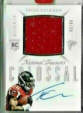2015 National Treasures Tevin Coleman Colossal Jersey Auto Rc Serial # 63/99
