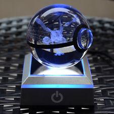 3D Pokeball Greninja Crystal Night LED bedroom 7 color changing desk light lamp