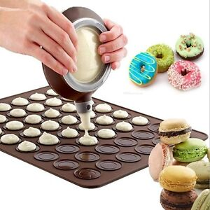 48 Cavities Baking Mat Silicone Macaroon Tray Non Stick Mould Sheet Mat