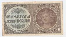 Bohemia And Moravia 1 koruna ND (1940) serie H 007 !!!!