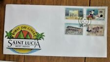 SAINT LUCIA  ST MARY'S COLLEGE 100TH ANNIVERSARY 1990  SET FDC