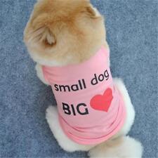"""Petit """"Petit Chien Grand Coeur"""" rose Pet Shirt. Vêtements Puppy Gilet T-shirt animal"""