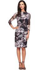 Alex Evenings Floral Tulle Blouson Dress (Size 16W)