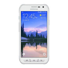 Samsung S6 active SM-G890A 32GB  Camo White GSM Unlocked AT&T.Fair Cosmetic 6/10