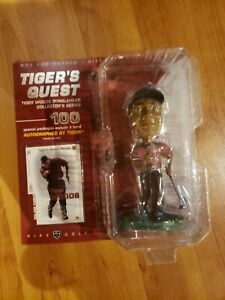 tiger woods bobblehead-tigers quest new in box with collectors card
