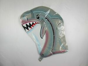 "2 Vintage 1989, 24""x18"", Helium Shark Head Balloons, Luau / Buffet Party"