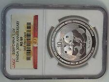 2009 China Silver Panda (1 oz) 10 Yuan - 30th Anniversary Commemorative NGC MS69