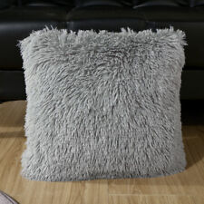 Sofa Faux Fur Cushion Covers Throw Pillow Case Soft 43x43cm Home Decor 04 Gray