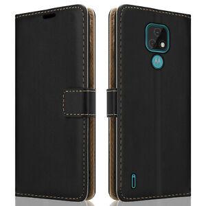 Luxury Wallet Leather Case For Motorola Moto E7 Flip Cover Magnetic