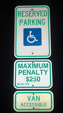 Reserved Handicap Parking, Max. Penalty Van Access. Sign North Carolina Approved