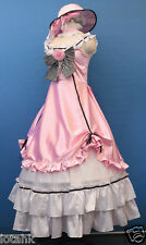 Ciel Pink Dress Cosplay Costume Custom Made Satin