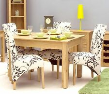 Mobel solid oak dining room furniture small dining table and felt pads