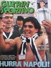 GUERIN SPORTIVO=N°46 1986=MARADONA COVER=POSTER BRESCIA