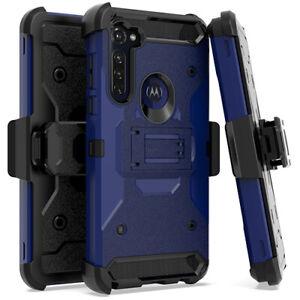 For Motorola Moto G STYLUS 2020 - Heavy Duty Hybrid Holster Case Belt Clip Stand