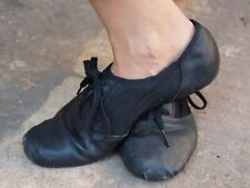 Women's CAPEZIO Black Leather Dance Shoes Size 6 UK- Very Well Worn