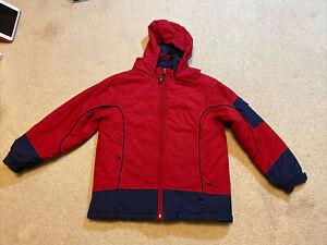 Boys LL Bean Red /Blue Size L (14-16)Winter Jacket Coat