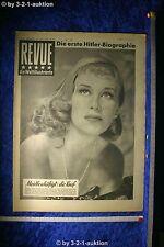 Revue Illustrierte Nr. 46 1952 15.11.52 Hildegard Knef Geburtstagszeitung