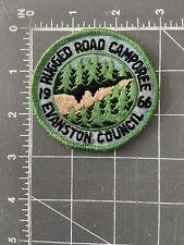 Vintage Evanston Council Rugged Road Camporee 1966 Patch Illinois Boy Scout BSA