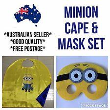 *Oz Seller* Kids Minion Cape Mask Costume Set Superhero Despicable Me Gru Yellow