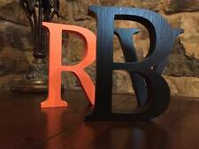 Wedding Centrepiece, Any 2 Letters A-Z plus an & Sign 13cm Large Black Letters