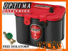 OPTIMA RED TOP 12V BATTERY SUIT 4X4/4WD/CARAVAN/INVERTER/DUAL/WAECO/ENGEL/ARB