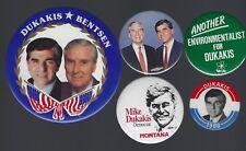 1988 MICHAEL DUKAKIS & L. BENTSEN POLITICAL CAMPAIGN BUTTON GROUP A