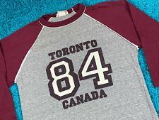 S * vtg 80s 1984 TORONTO CANADA raglan tourist t shirt jersey * 66.170