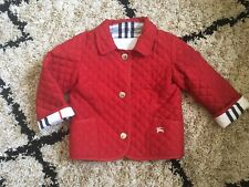 BABY TODDLER AUTHENTIC BURBERRY COAT JACKET UNISEX RED SIZE 12 MONTHS