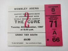 The Cure 1987 Concert Ticket Stub Wembley Arena London