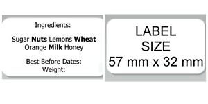 Personalized Ingredients Labels Jam Chutney Preserve Homemade Self-Adhesive