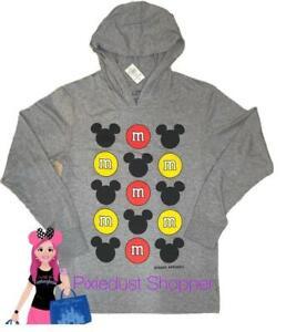 Disney Springs M&M Mickey Long Sleeve Hoodie Men's Unisex Shirt