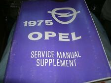 Opel manta manuals literature ebay 1975 opel manta ascona factory shop service manual supplement original sciox Gallery