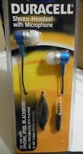 LOT 2 DURACELL STEREO HEADSET WITH MIC MICROPHONE 3.5mm - NEW MODEL DU3002