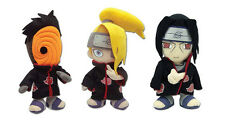 Set of 3 - Itachi 7054 / Deidara 8910 / Tobi 8972 Stuffed Plush Naruto Shippuden