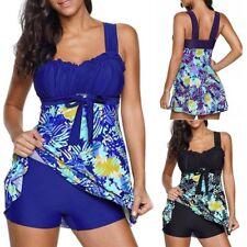 AU Size 6-22 Women Floral Tankini Sets With Boy Shorts Ladies Swimdress Swimsuit