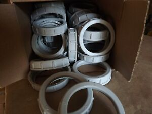 """lot of forty (40)  Arlington #445  2"""" Plastic Insulated Bushings, Gray"""