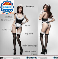 """1/6 Maid Lingerie Sexy Clothes Set For 12"""" PHICEN Hot Toys Female Figure ❶USA❶"""