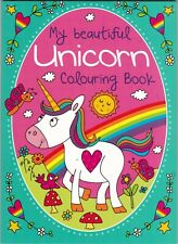UNICORN COLOURING BOOK - A4 PAPERBACK WHITE PAPER 72 PAGES TO COLOUR