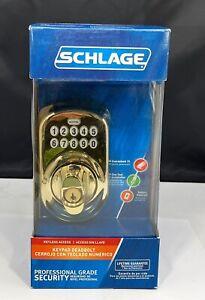 SCHLAGE Keypad Keyless Electronic Deadbolt Plymouth Ultima Brass BE365 V PLY 505